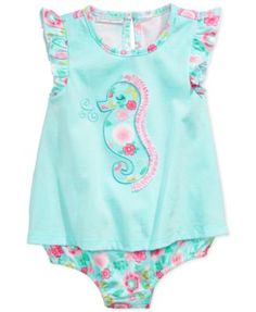 First Impressions Baby Girls' Seahorse Romper