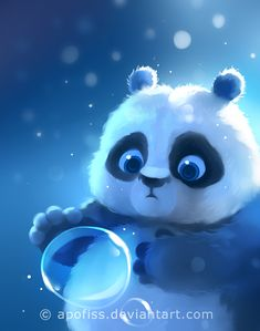 """remake of a super old artwork back from 2011 called """"panda"""". somethingsimple and fun!used photoshop and paint tool sai ( for more questions / answers go to F.A.Q ) p.s. merry chri..."""