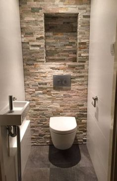 Space Saving Toilet Design for Small Bathroom Bathroom Design Small, Bathroom Interior Design, Bathroom Styling, Space Saving Toilet, Bad Styling, Toilet Design, Diy Bathroom Remodel, Bathroom Ideas, Bathroom Mat