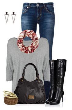 """""""Untitled #2315"""" by ksims-1 ❤ liked on Polyvore featuring Jacob Cohёn, Calvin Klein, Charlotte Russe, Marc by Marc Jacobs, Sergio Rossi, Topshop and Ileana Makri"""