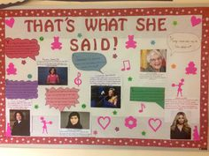 """""""That's What She Said"""" feminism board with quotations from distinguished women"""