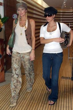 Tiny vests, wide-leg cargo pants, and funky hats? Paris Hilton and Kim Kardashian perfectly captured all of the best (and worst) fashion trends of the 2000s - click to relive them all.