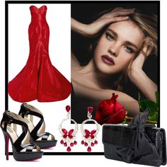 """Red Satin Beauty"" by jacque-reid on Polyvore"
