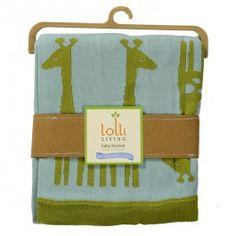 Mod Jacquard Knit Blanket - Giraffe