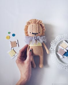 ready-to-ship CROCHET LION, baby toy, lion stuffed animal, newborn gift, babyshower gift Crochet Patterns For Beginners, Easy Crochet Patterns, Crochet Patterns Amigurumi, Diy Crochet Toys, Crochet Dolls, Crochet Hats, Crochet Lion, Amigurumi Toys, Newborn Gifts