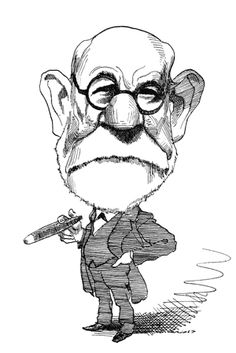 Sigmund Freud by David Levine Sigmund Freud, Caricatures, Carl Jung Shadow, Carl Jung Archetypes, Satire, Psychology Quotes, Freud Psychology, Comic Book Collection, Illustrations