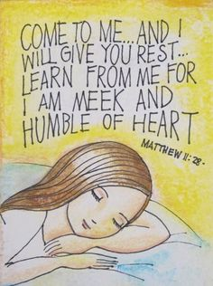 come to me, all who  are weary and burdened ...[ this yoke will be shared with Christ who will help and guide you}
