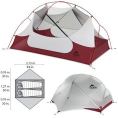 MSR Hubba Hubba NX 2-Person Tent - I've used it for 2 years and am satisfied with the quality and ease of set up.