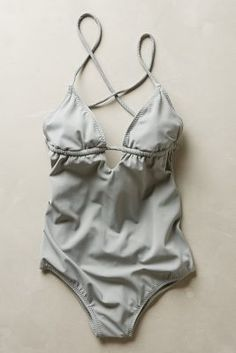 Eberjey Madison Maillot Light Grey Swimwear