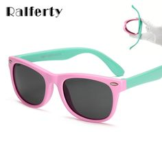 f948459f942 Ralferty Flexible Kids Polarized Square Sunglasses Acetate Frame  Polycarbonate Lens