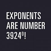 12 Most Popular Math & Science T-Shirts (Plus a Big Sale! we just talked about exponents to the zero power this week. we just talked about exponents to the zero power this week. Algebra Humor, Math Humor, Algebra 1, Calculus, Math Puns, Math Memes, Math Hacks, I Love Math, Fun Math