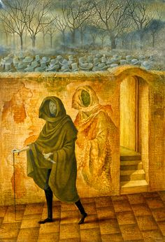 1959 CONCIDENCIA, Remedios Varo Uranga (1908~1963, Spanish-Catalan born Mexican para-surrealist painter and anarchist)