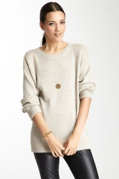 Long Sleeve Boyfriend Sweater  by Anna Catherine on @HauteLook