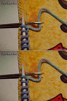 Чудо находка для вязальщиц - Как набрать петли на ткани при комбинированной вязке.
