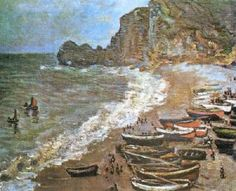 Boats On The Beach  Artist: Claude Monet