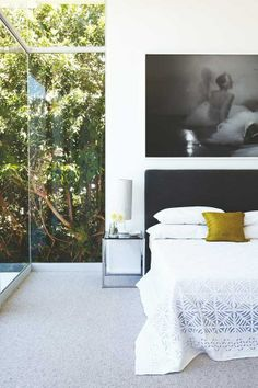 dustjacket attic: Lion's Head Home (cape town) #bedroom #art #glass walls