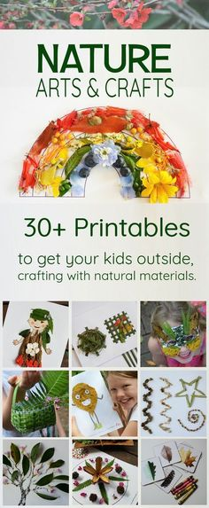 Nature arts and crafts – nature printables for nature art, outdoor classroom… Nature arts and crafts – nature printables for nature art, outdoor classrooms and forest school activities Outside fun Diy Nature, Art Et Nature, Nature Crafts, Nature Study, Nature Table, Forest Crafts, Forest School Activities, Nature Activities, Activities For Kids