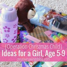 The Power of a Simple Gift: Operation Christmas Child Ideas (for a Girl) Christmas Child Shoebox Ideas, Operation Christmas Child Shoebox, Kids Christmas, Christmas Crafts, Christmas Boxes, Xmas, Operation Shoebox, Samaritan's Purse, Cheap Christmas Gifts