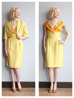 1960s Dress // Silk Fay Hoosin Dress & Jacket by dethrosevintage