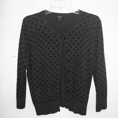 Polka Dot Cardigan Sweater is extremely similar to the J. Crew Jackie Cardigan. It is NOT J. Crew, was purchased at Carson's department store and has been worn once. In excellent condition. J. Crew Sweaters Cardigans