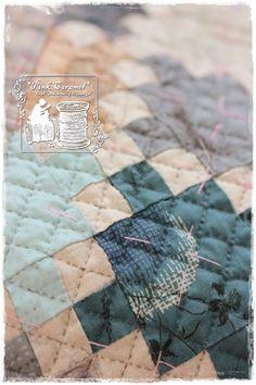 Розовый Карамель: Синий Девять патч 3