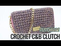 "TUTORIAL POCHETTE UNCINETTO ""Preziosa"" - Crochet clutch ● Katy Handmade - YouTube"