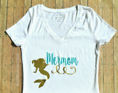 Mermom shirt, mermama shirt, Mother of mermaids, Mermaid Birthday themed party, Mother of the birthday Mermaid  Hey, I found this really awesome Etsy listing at https://www.etsy.com/listing/387122626/mermom-shirt-mother-of-a-mermaid-mother
