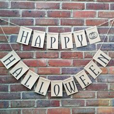 Happy Halloween Bunting Banner – Rustic Vintage Style in Home, Furniture & DIY, Celebrations & Occasions, Party Supplies   eBay