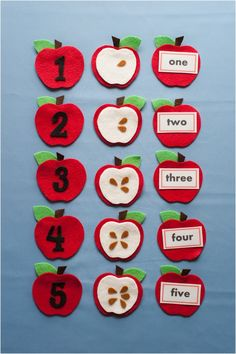 Apple Seed Counting Felt Board Magic