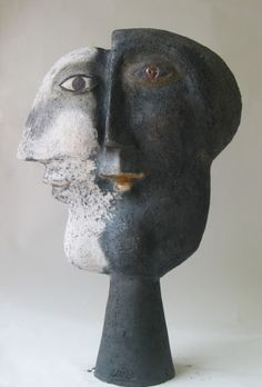 'Janus' ceramic sculpture by Roger Capron