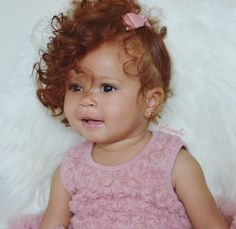 She is the cutest mixed baby with red hair EVER -kv Cute Kids, Cute Babies, Baby Kids, Baby Baby, Beautiful Children, Beautiful Babies, Ginger Babies, Ginger Kids, Baby Family