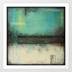 Mint Green Art Abstract art Art print Square art by LizMosLoft, $16.00