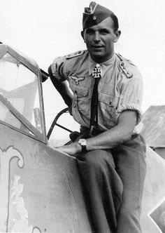 Herbert Ihlefeld. He was a recipient of the Knight's Cross of the Iron Cross with Oak Leaves and Swords. He claimed 132 enemy aircraft shot down; nine in the Spanish Civil War, 67 on the Eastern Front, and 56 on the Western Front, including 15 four-engined bombers and 26 Spitfires. He survived being shot down eight times during his 1,000 combat missions.