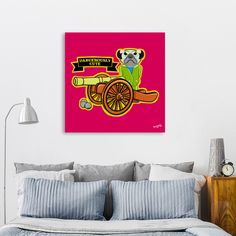 Discover «Pug Dangerously Cute», Numbered Edition Canvas Print by Early Kirky - From $49 - Curioos