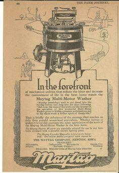 June 1919 Maytag Co Newton Iowa Maytag Washer with Gasoline Engine Ad | eBay