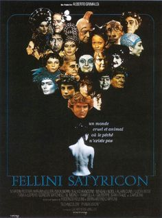 """Fellini Satyricon"", fantasy drama film by Federico Fellini (Italy, 1969)"