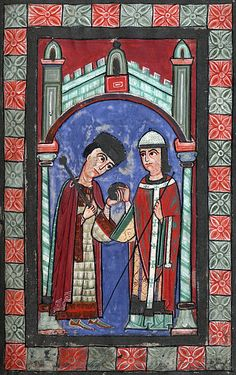 Henry V, King of Germany and Holy Roman Emperor with Ruthard, Archbishop of Mainz