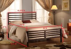 Bronze Metal Annabella Collection Bed Headboard Footboard Rails Slats Full *** Visit the image link more details. (This is an affiliate link) Headboard And Footboard, Headboards For Beds, Steel Bed Frame, Bed Slats, Bed Rails, Platform Bed Frame, Metal Beds, Bed Design, Bedroom Furniture