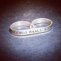 """Recent custom order Sterling silver two finger ring. Personalized with """"this too shall pass""""  #thistooshallpass #personalized #customorder #engraving #sterlingsilver #twofingers #ring #etsyshop #etsy #etsyfinds #etsyseller #jewelry #customorder #etsystore"""