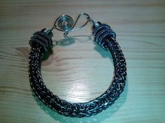Viking knit, bracelet from stanless steel, foursquare
