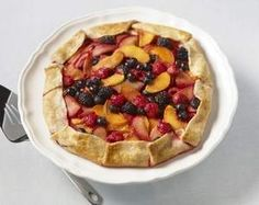 Summer Fruit and Sweet Cream Cheese Galettes.  We just made this tart and it's delicious!