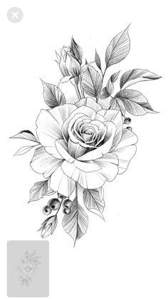 Flower Drawing Discover 50 Shoulder Tattoo For Woman; Rose Drawing Tattoo, Tattoo Drawings, Watercolor Tattoos, Floral Tattoo Design, Flower Tattoo Designs, Unique Tattoos, Small Tattoos, Rose Zeichnung Tattoo, Tattoo Femeninos