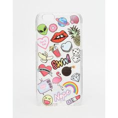Skinnydip Sticker Print iPhone 6/6s Case (£12) ❤ liked on Polyvore featuring accessories, tech accessories and multi