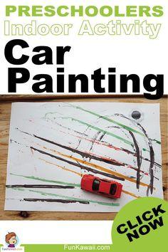 Kids indoor activity for Preschoolers who love cars