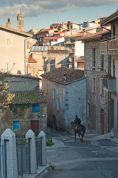 Just takin' the horse out for a spin, Fonni, Sardinia, Italy