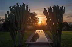 Amazing sunset and setting in Sant Antoni de Portmany, Ibiza, Spain.