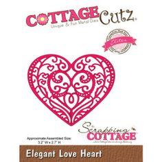 Cottage Cutz Elegant Love Heart elegantes Herz von Prell Versand auf DaWanda.com