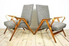 Fauteuil Scandinave restauré en tissu brun, fauteuil de salon, mid century modern, milieu du siècle, fauteuil unique, les années 60, chaise