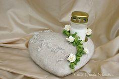 Grabgesteck Herz mit Grablicht Kerze weiß Allerheiligen Grabschmuck Urnengrab   eBay