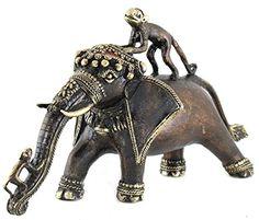 SouvNear The Elephant Naughty Monkey Statue - Handmade Rustic Solid Bronze Lucky Elephant -Antique Animal Figurine Sculpture - Unique Tribal Art for Home / Office / Garden SouvNear http://www.amazon.com/dp/B00GJRRQXW/ref=cm_sw_r_pi_dp_NVKbwb0SKY3VC